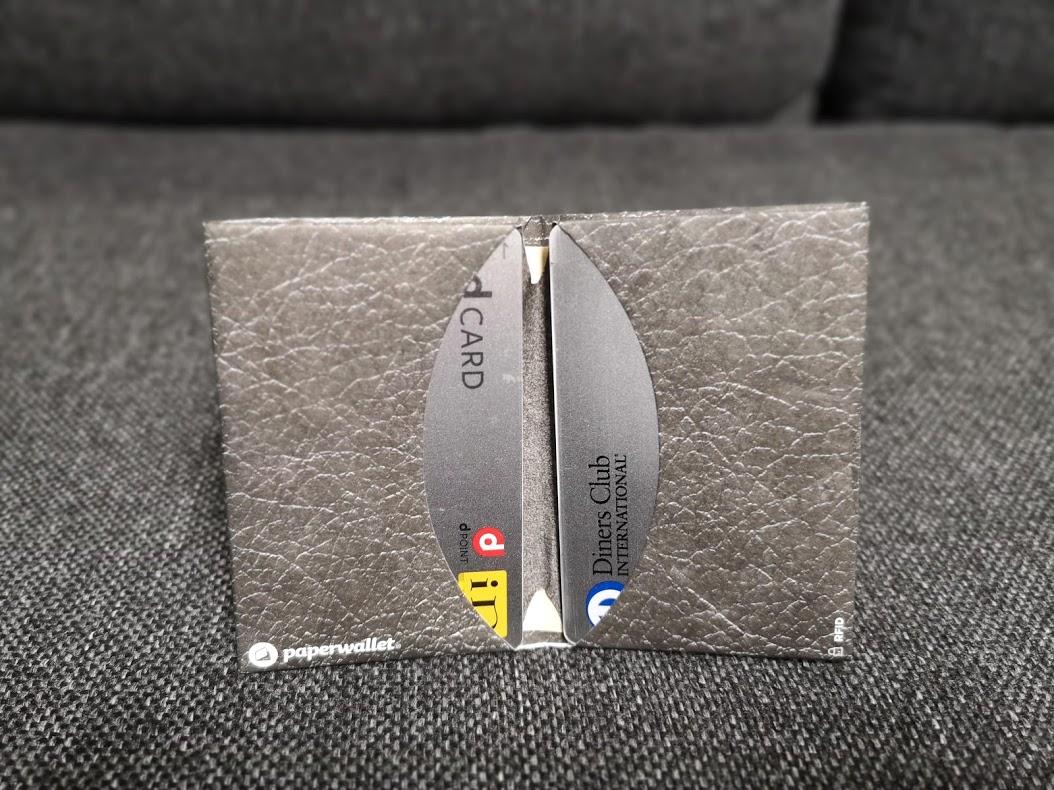 (レビュー)紙でできた財布Micro Walletはアブラサスの薄い財布より薄いんだから!